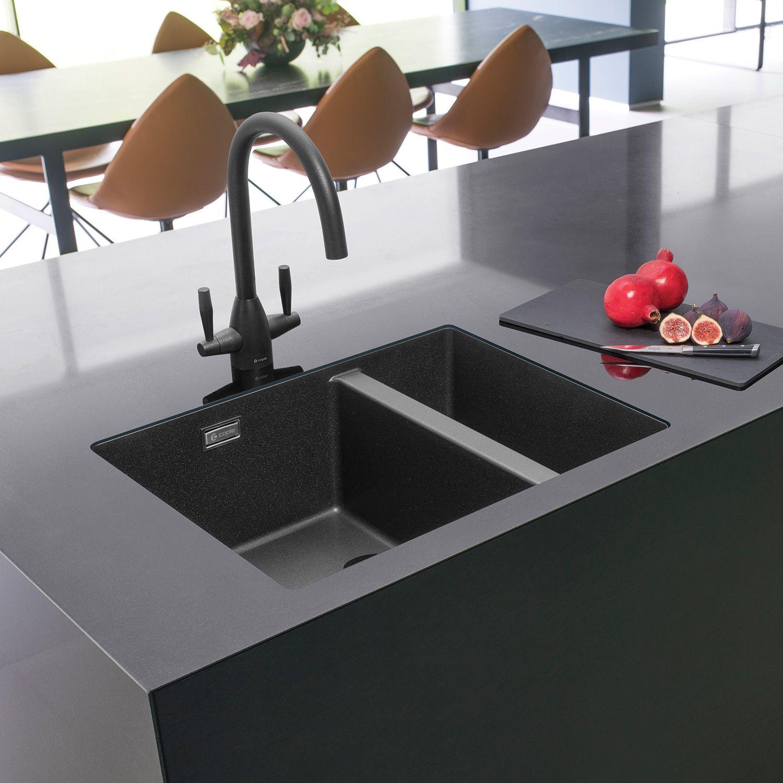 Caple Leesti 150 1 5 Bowl Undermount Granite Kitchen Sink