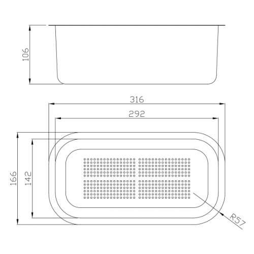 Abode AX1502 Stainlesss Steel Colander