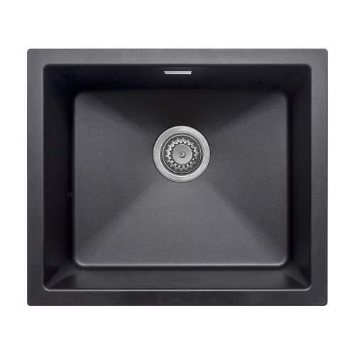 Bluci ACUTE G47 Single Bowl Black Granite Sink