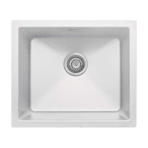 Bluci ACUTE G47 Single Bowl White Granite Sink