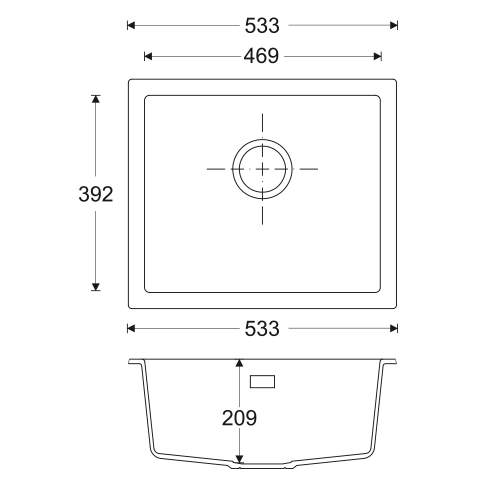 Bluci ACUTE G47 Single Bowl Granite Sink