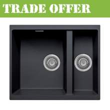 Bluci ACUTE G3314 1.5 Bowl Undermount Black Granite Sink