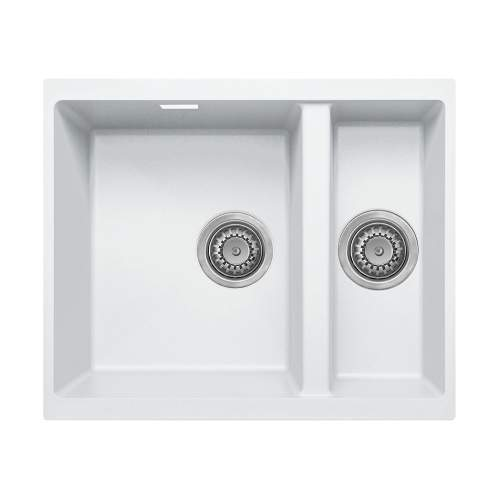 Bluci ACUTE G3314 1.5 Bowl Undermount White Granite Sink