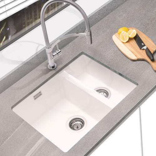 Bluci ACUTE G3314 1.5 Bowl Undermount Granite Sink