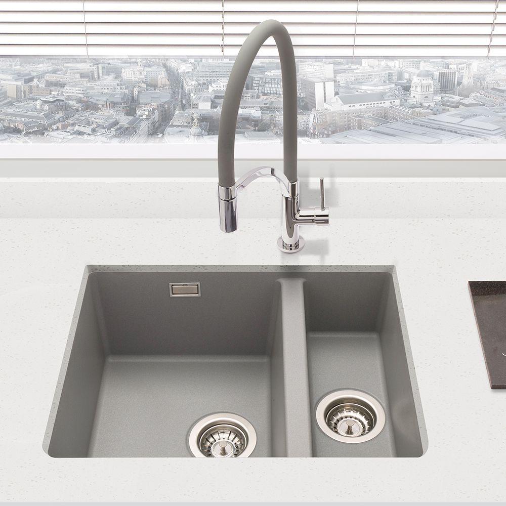 Bluci Acute G3314 1 5 Bowl Undermount Granite Sink Sinks