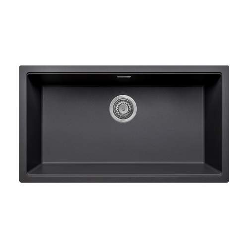 Bluci ACUTE G72 Single Large Bowl Undermount Black Granite Sink