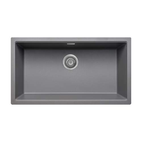 Bluci ACUTE G72 Single Large Bowl Undermount Grey Granite Sink