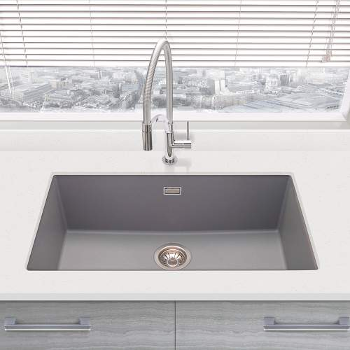 Bluci ACUTE G72 Single Large Bowl Undermount Granite Sink