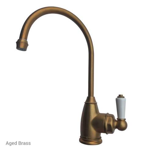 Perrin & Rowe Parthian Mini Instant Hot Tap in Aged Brass - 1307AB