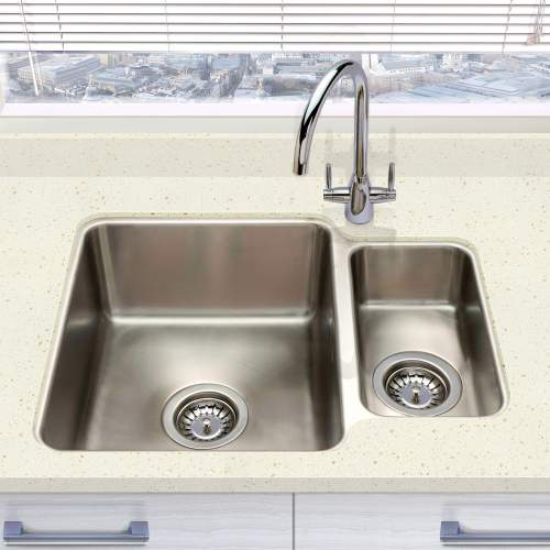 Bluci ORBIT 01 Reversible Undermount 1.5 Bowl Kitchen Sink Lifestyle