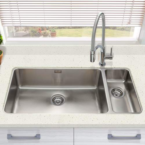 Bluci ORBIT 6518 Large Undermount 1.5 Bowl Kitchen Sink