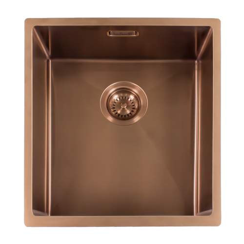 Reginox Miami 40x40 Single Bowl Kitchen Sink in Copper