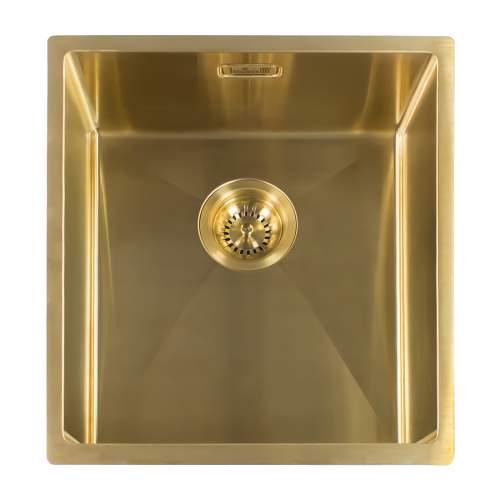 Reginox Miami 40x40 Single Bowl Kitchen Sink in Gold
