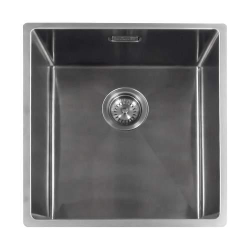 Reginox Miami 40x40 Single Bowl Kitchen Sink in Gunmetal