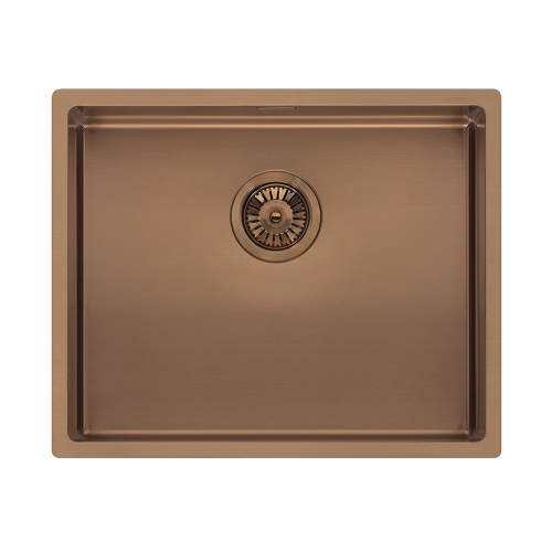 Reginox Miami 50x40 Single Bowl Kitchen Sink in Copper