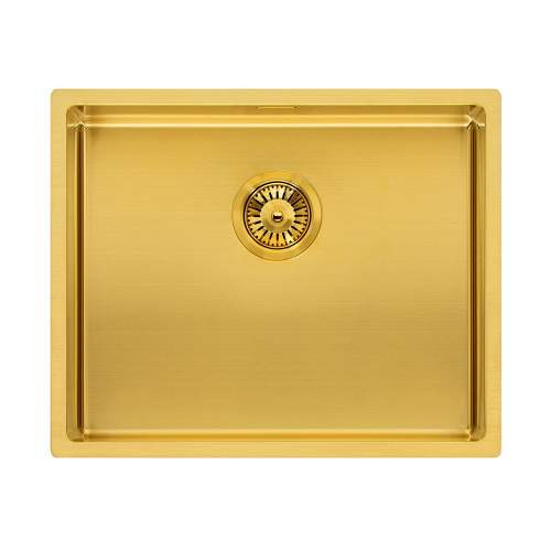 Reginox Miami 50x40 Single Bowl Kitchen Sink in Gold