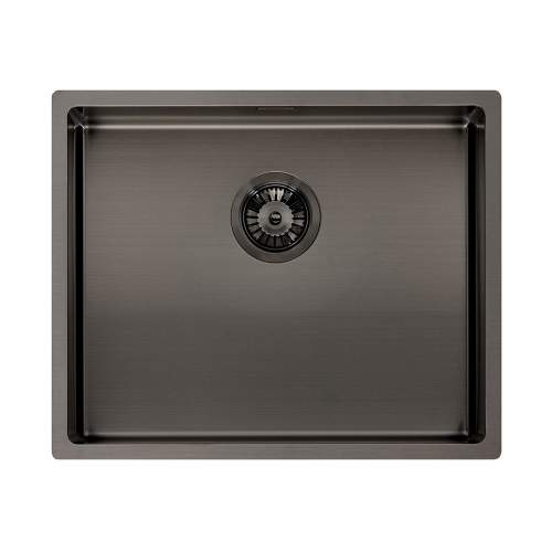 Reginox Miami 50x40 Single Bowl Kitchen Sink in Gunmetal