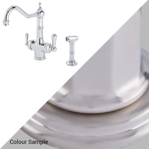 Perrin & Rowe 1770 Celeste 3-in-1 Instant Hot Tap with Rinse in Pewter