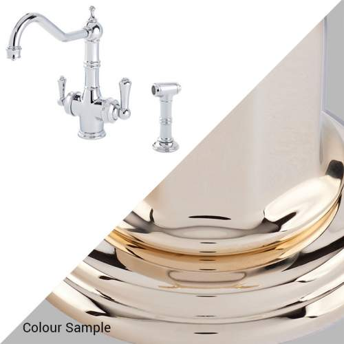 Perrin & Rowe 1770 Celeste 3-in-1 Instant Hot Tap with Rinse in Gold