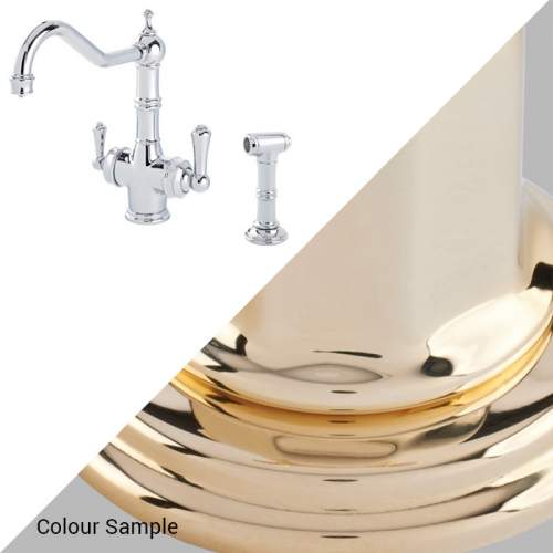 Perrin & Rowe 1770 Celeste 3-in-1 Instant Hot Tap with Rinse in Polished Brass
