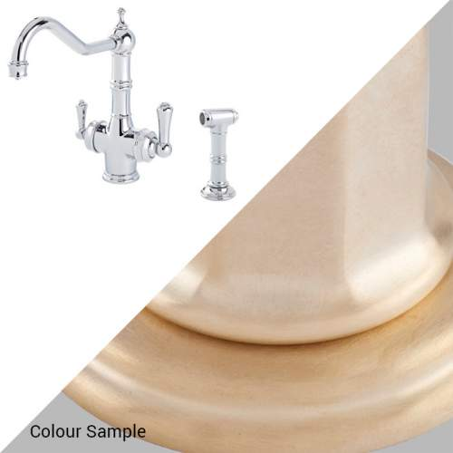 Perrin & Rowe 1770 Celeste 3-in-1 Instant Hot Tap with Rinse in Satin Brass