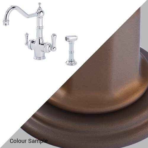 Perrin & Rowe 1770 Celeste 3-in-1 Instant Hot Tap with Rinse in English Bronze