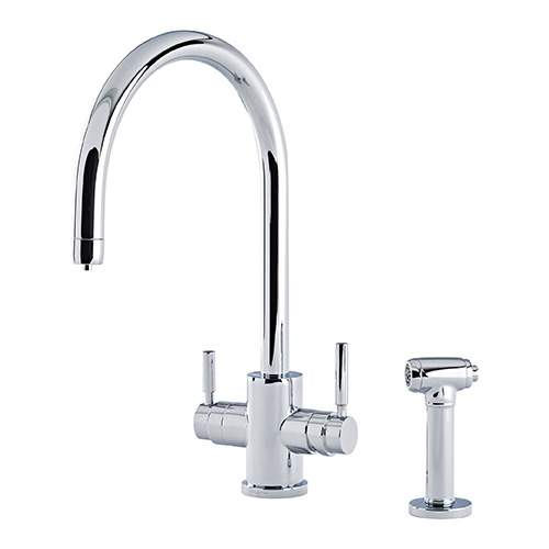 Perrin & Rowe 1712 Phoenix C-Spout 3-In-1 Instant Hot Tap with Rinse