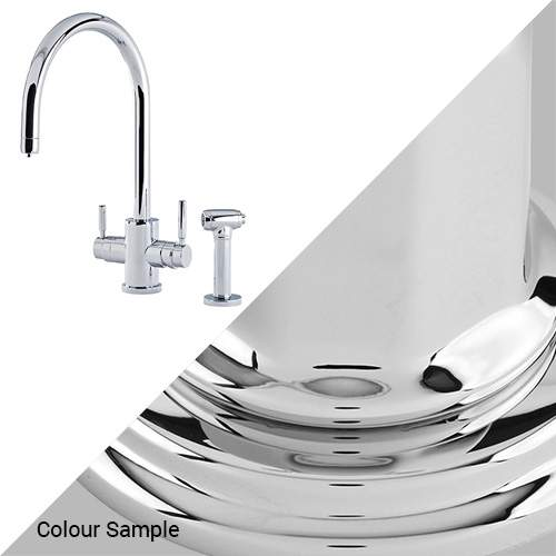 Perrin & Rowe 1712 Phoenix C-Spout 3-In-1 Instant Hot Tap with Rinse in Chrome