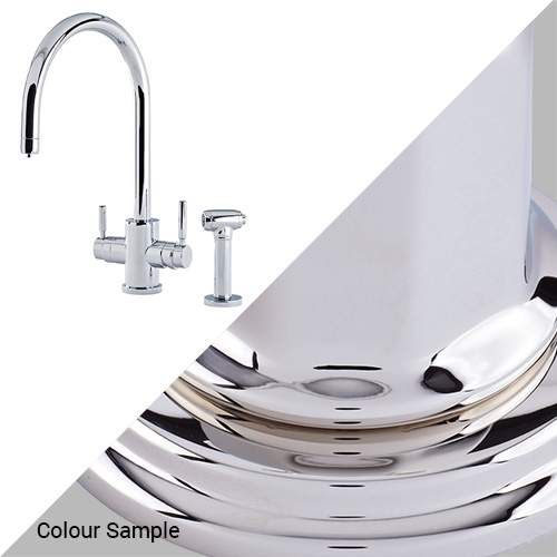 Perrin & Rowe 1712 Phoenix C-Spout 3-In-1 Instant Hot Tap with Rinse in Nickel