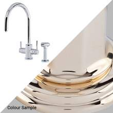 Perrin & Rowe 1712 Phoenix C-Spout 3-In-1 Instant Hot Tap with Rinse in Gold