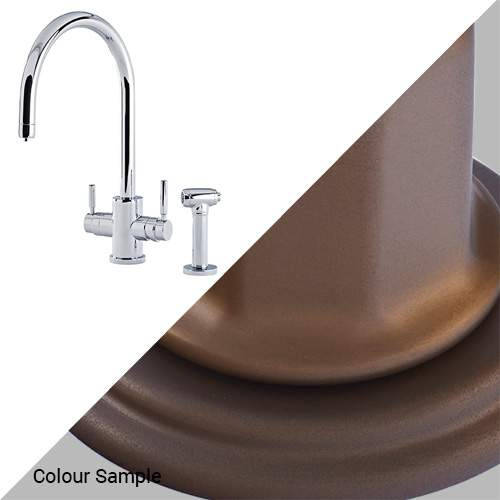Perrin & Rowe 1712 Phoenix C-Spout 3-In-1 Instant Hot Tap with Rinse in Bronze