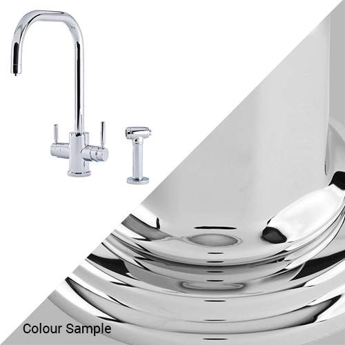 Perrin & Rowe 1714 Phoenix U-Spout 3-In-1 Instant Hot Tap with Rinse in Chrome
