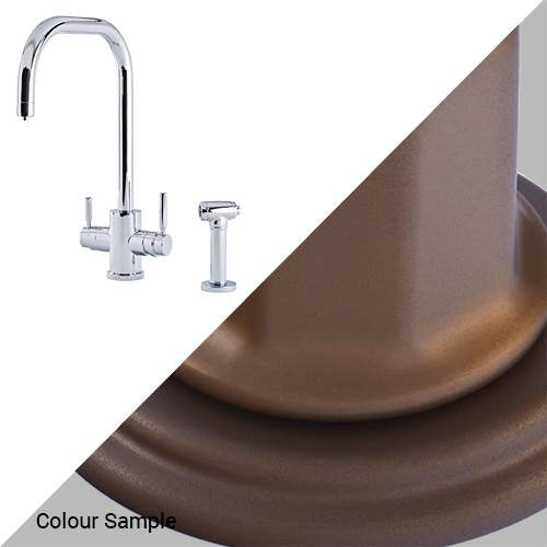 Perrin & Rowe 1714 Phoenix U-Spout 3-In-1 Instant Hot Tap with Rinse in Bronze