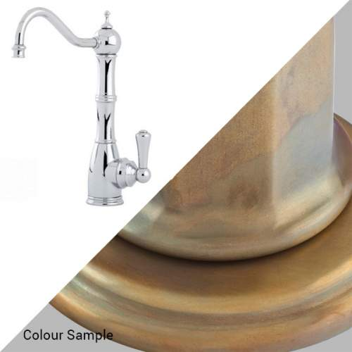 Perrin & Rowe Country 1323 Aquitaine Mini Instant Hot Water Kitchen Tap in Aged Brass