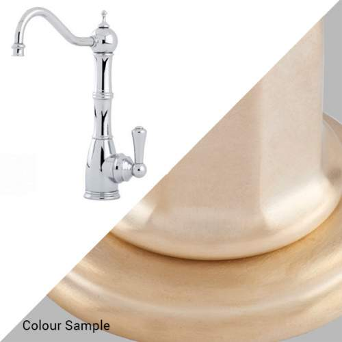 Perrin & Rowe Country 1323 Aquitaine Mini Instant Hot Water Kitchen Tap in Satin Brass