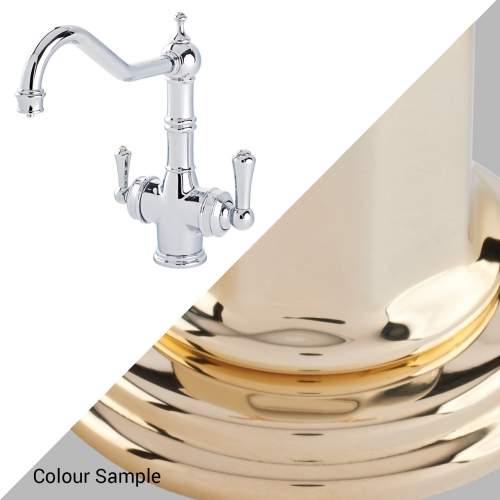 Perrin & Rowe 1970 Celeste 3in1 Hot Water Tap in Polished Brass