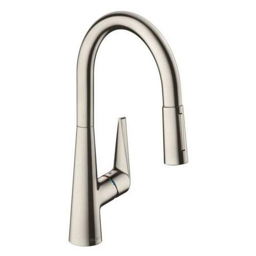 Hansgrohe Talis S 200 Mixer Pull Out Spray Tap in Stainless Steel