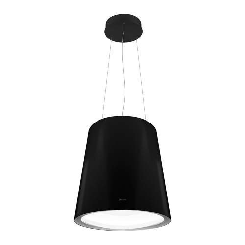 Caple Zalto 480mm Wide Island Chimney Hood in Black