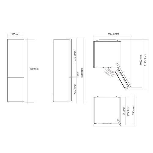 Caple RFF730 Freestanding 70/30 Fridge Freezer