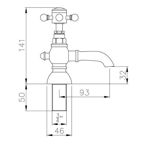 Abode AB2682 Sentiment Bath Pillar Taps in Chrome