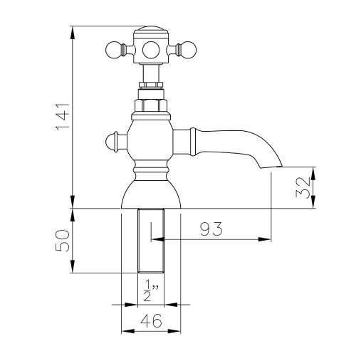 Abode AB2680 Sentiment Basin Pillar Taps in Chrome