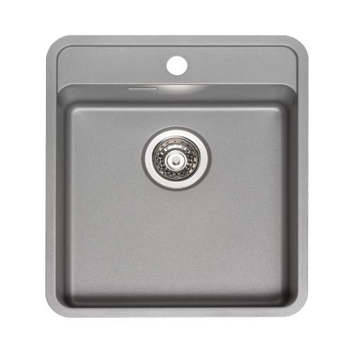 Reginox Regi-Color OHIO 40x40 with Tapwing Single Bowl Kitchen Sink - Atomic Grey