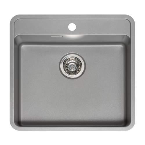 Reginox Regi-Color OHIO 50x40 Single Tapwing Bowl Kitchen Sink - Atomic Grey