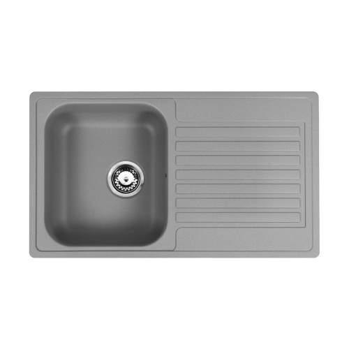 Reginox Regi-Color CENTURIO Single Bowl Kitchen Sink in Atomic Grey