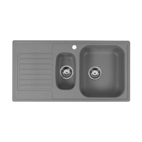 Reginox Regi-Color CENTURIO 1.5 Bowl Kitchen Sink in Atomic Grey
