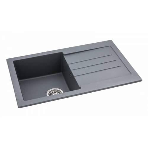 Abode AW3161 XCITE Compact Granite Sink in Metallic Grey