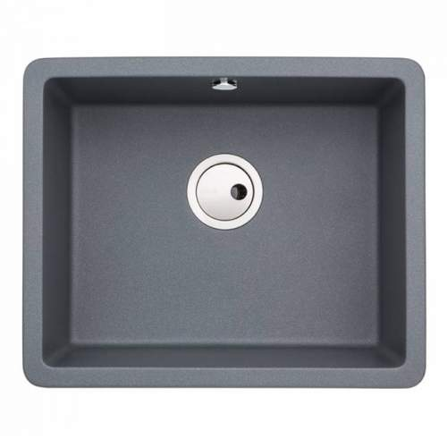 Abode AW3134 MATRIX SQGR15 Single Bowl Granite Sink in Metallic Grey