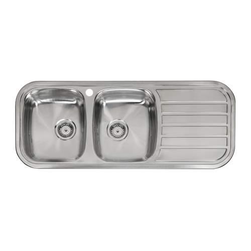 Reginox REGENT 30 LUX Double Bowl Kitchen Sink with Drainer