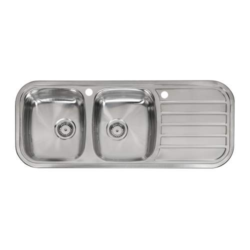 Reginox REGENT 30 LUX Double Bowl Catering Kitchen Sink with Drainer