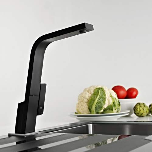 Teka IC 915 Single Lever Black Kitchen Tap